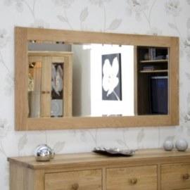 Z Oak Large Mirror