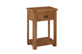 Kent Solid Oak 1 Drawer Console Table