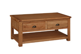 Kent Solid Oak  2 Drawer Coffee Table