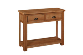 Kent Solid Oak 2 Drawer Console