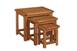 Kent Solid Oak Nest of Tables