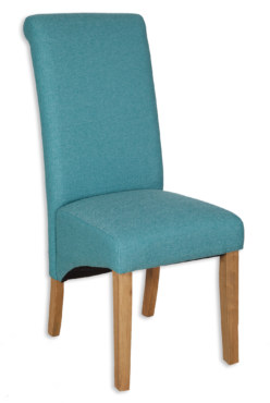 AOC Dining Fabric Chair – Aqua