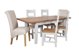 Melbourne French Grey 1.2 Extending Dining Table