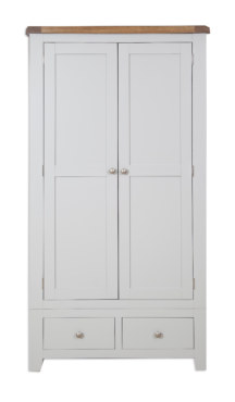 Melbourne French Grey 2 Door 2 Drawer Wardrobe