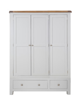 Melbourne French Grey 3 Door 2 Drawer Wardrobe