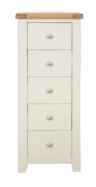Melbourne Ivory 5 Drawer Tall Chest