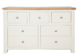 Melbourne Ivory 7 Drawer Wide Chest