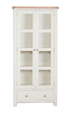 Melbourne Ivory Glazed Display Cabinet
