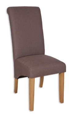 AOC Dining Fabric Chair – Coffee