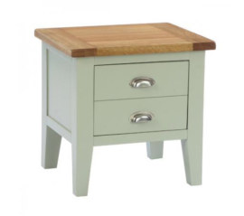 Vancouver French Grey 1 Drawer Lamp Table