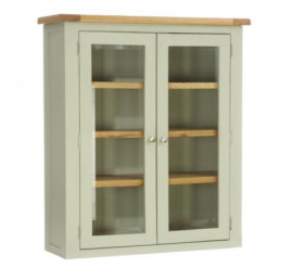 Vancouver French Grey 2 Door Glazed Hutch
