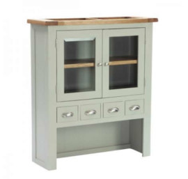 Vancouver French Grey 4 Drawer 2 Door Hutch