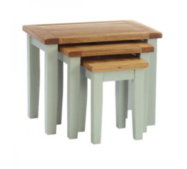 Vancouver French Grey Nest of 3 Tables