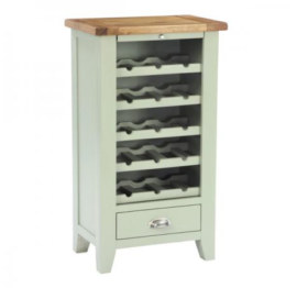 Vancouver French Grey Wine Unit with 5 Shelves & 1 Drawer