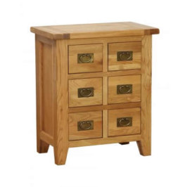 Vancouver Petite 6 Drawer CD / DVD Cabinet