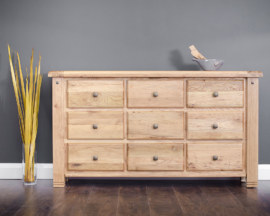 Venice 9 Drawer Wide Chest